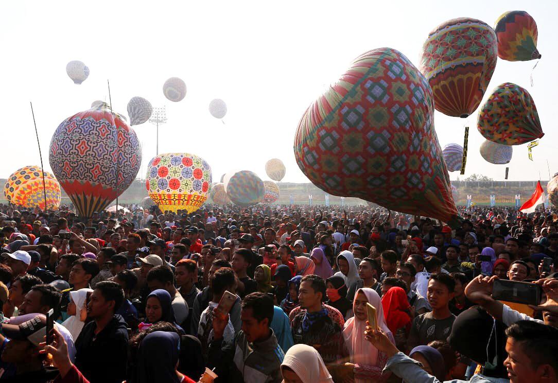 Motif batik pada balon udara di Java Traditional Balloon Festival di Pekalongan | Sumber: Pemerintah Jawa Tengah