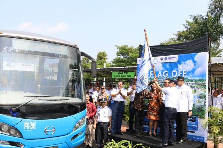 New bus routes to Soekarno-Hatta Airport, MRT station launched in South Tangerang