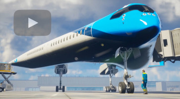 New fuel-efficient aircraft design squeezes passenger cabin into V-shaped wings