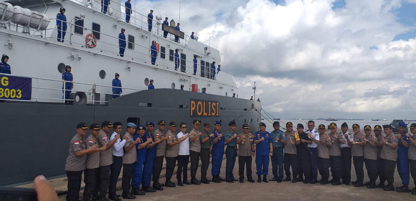 Police deploy 'biggest' patrol boat to curb illegal fishing in Natuna