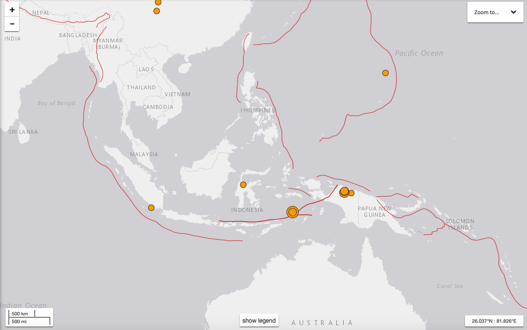 Powerful quakes hit Maluku and Papua