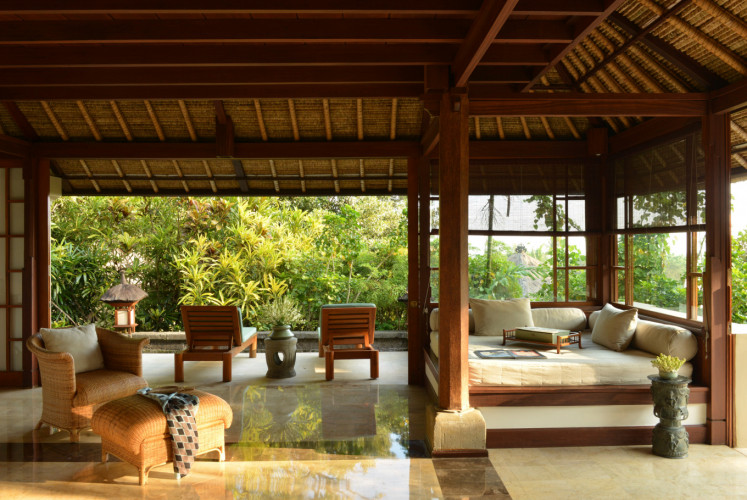 The Ayung suite, one of the suites at Amandari. The resort has 31 suites and one villa.