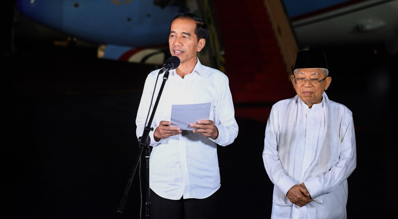 Digital flower board mini web app created to congratulate Jokowi-Amin