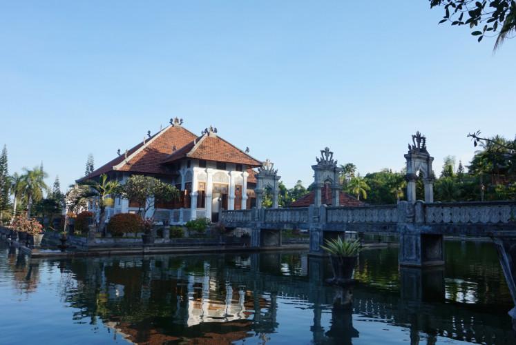 The Taman Ujung water palace in Karangasem regency, Bali.