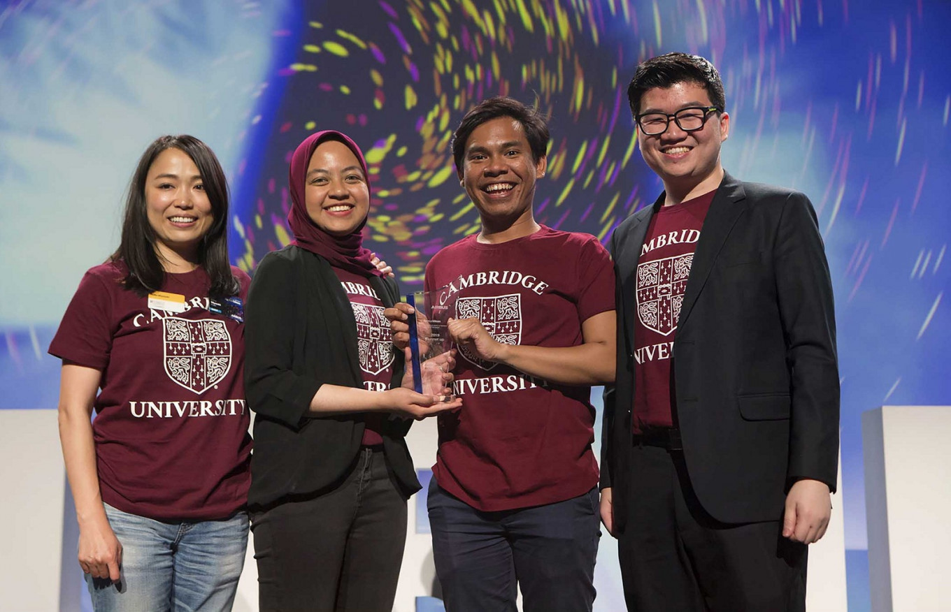 Indonesian students win second place at Airbus aerospace competition