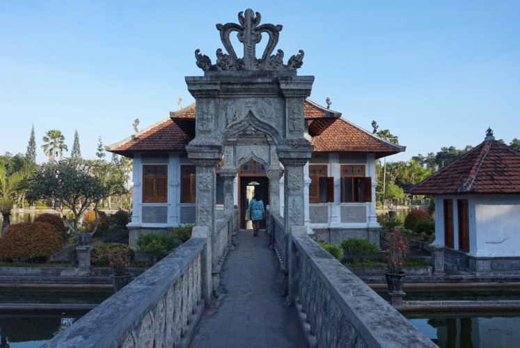 One of the entrances to Balai Gili at Taman Ujung water palace in Karangasem regency, Bali.