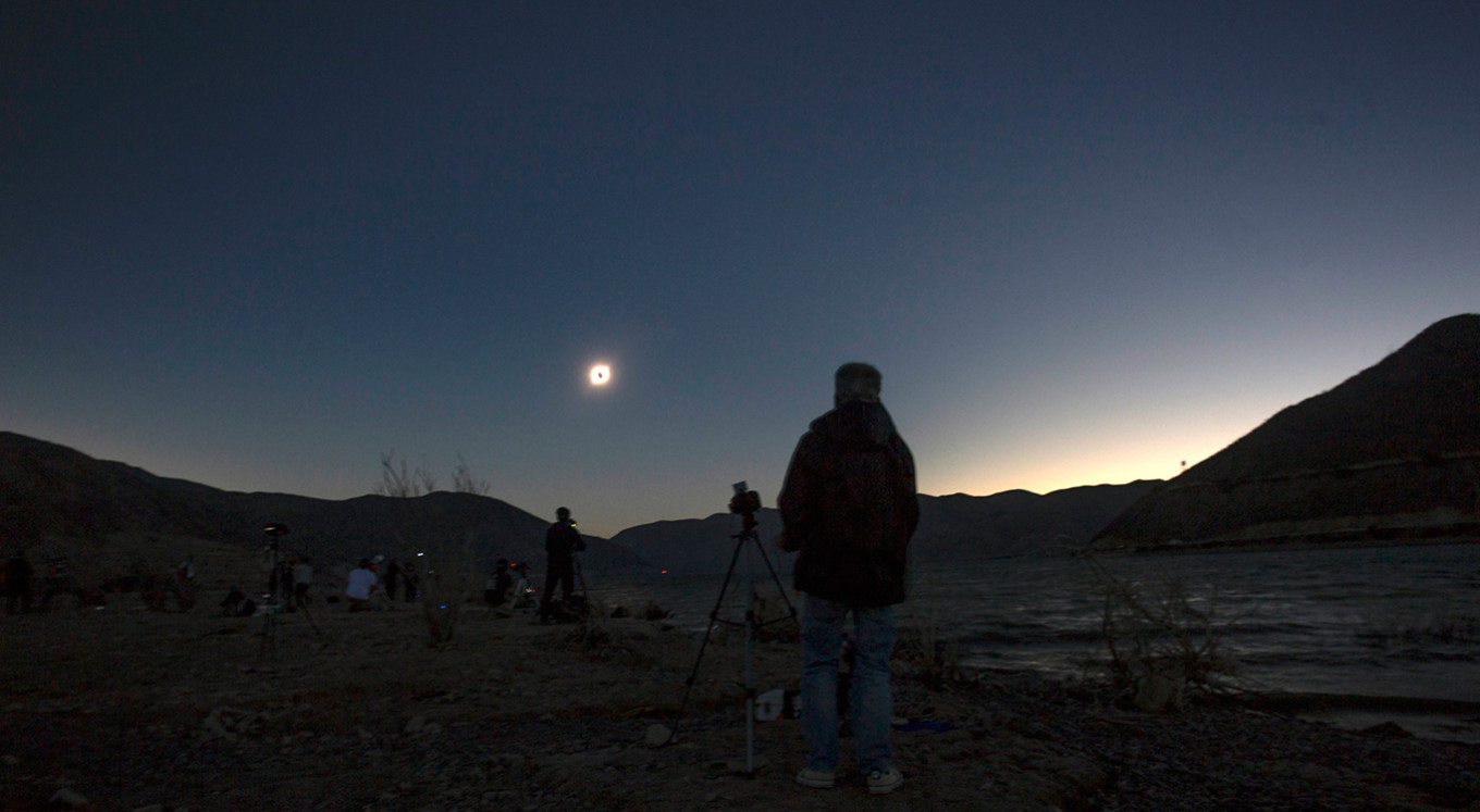 A rare total eclipse swept over Chile and Argentina