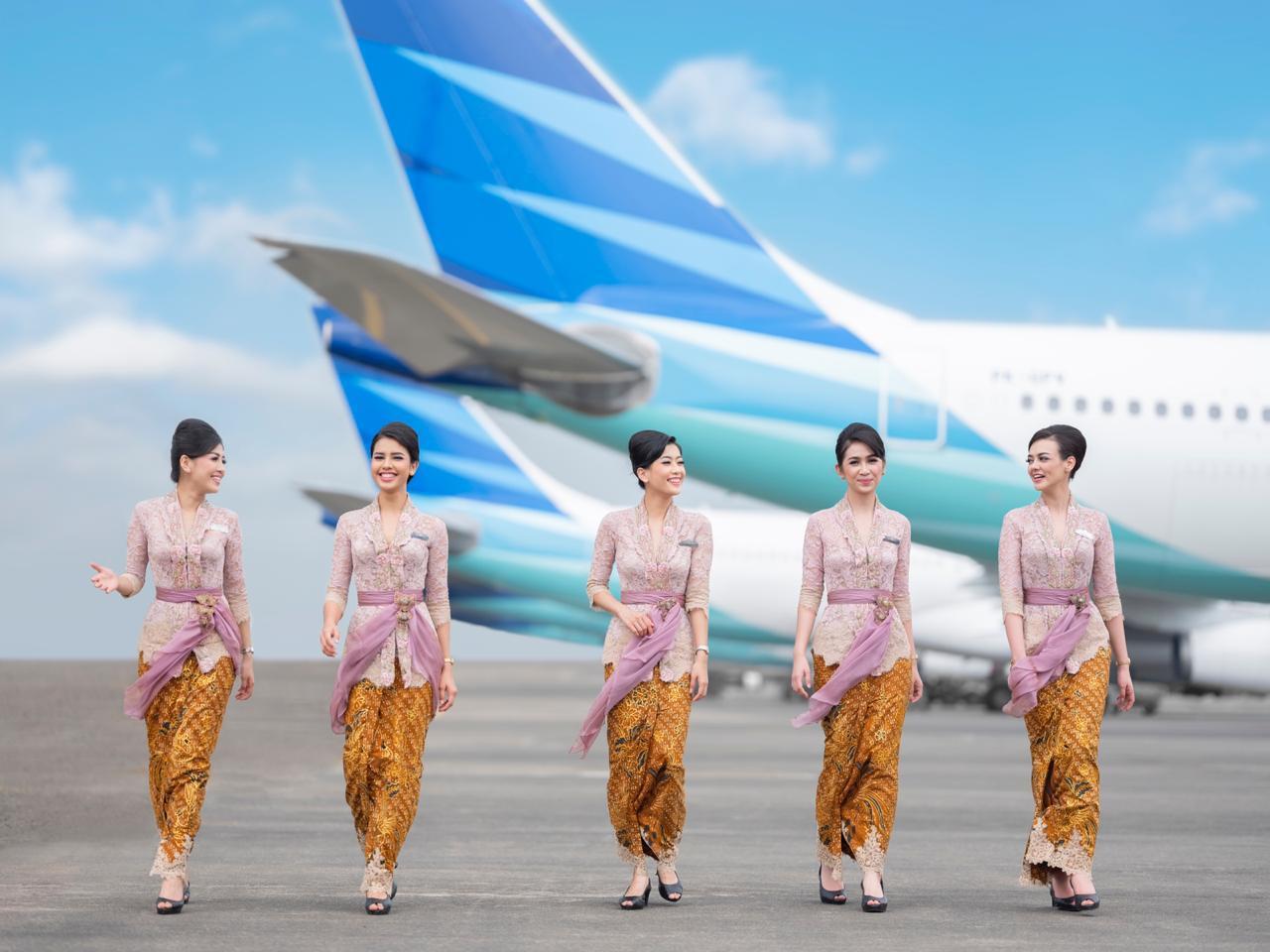 Garuda Indonesia dons 'kebaya' to enhance flight experience