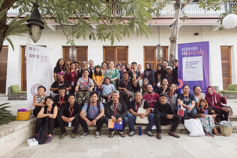 Participants of Ayo Ketemu! gather at the Sudamala Resort in Sanur, Bali.