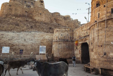 Jaisalmer Fort has four main massive gates that were designed as a defense system. JP/Irene Barlian