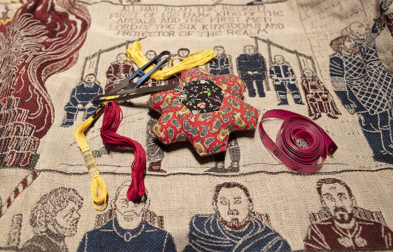 Thrilling yarn: Tapestry depicts 'Game of Thrones' saga