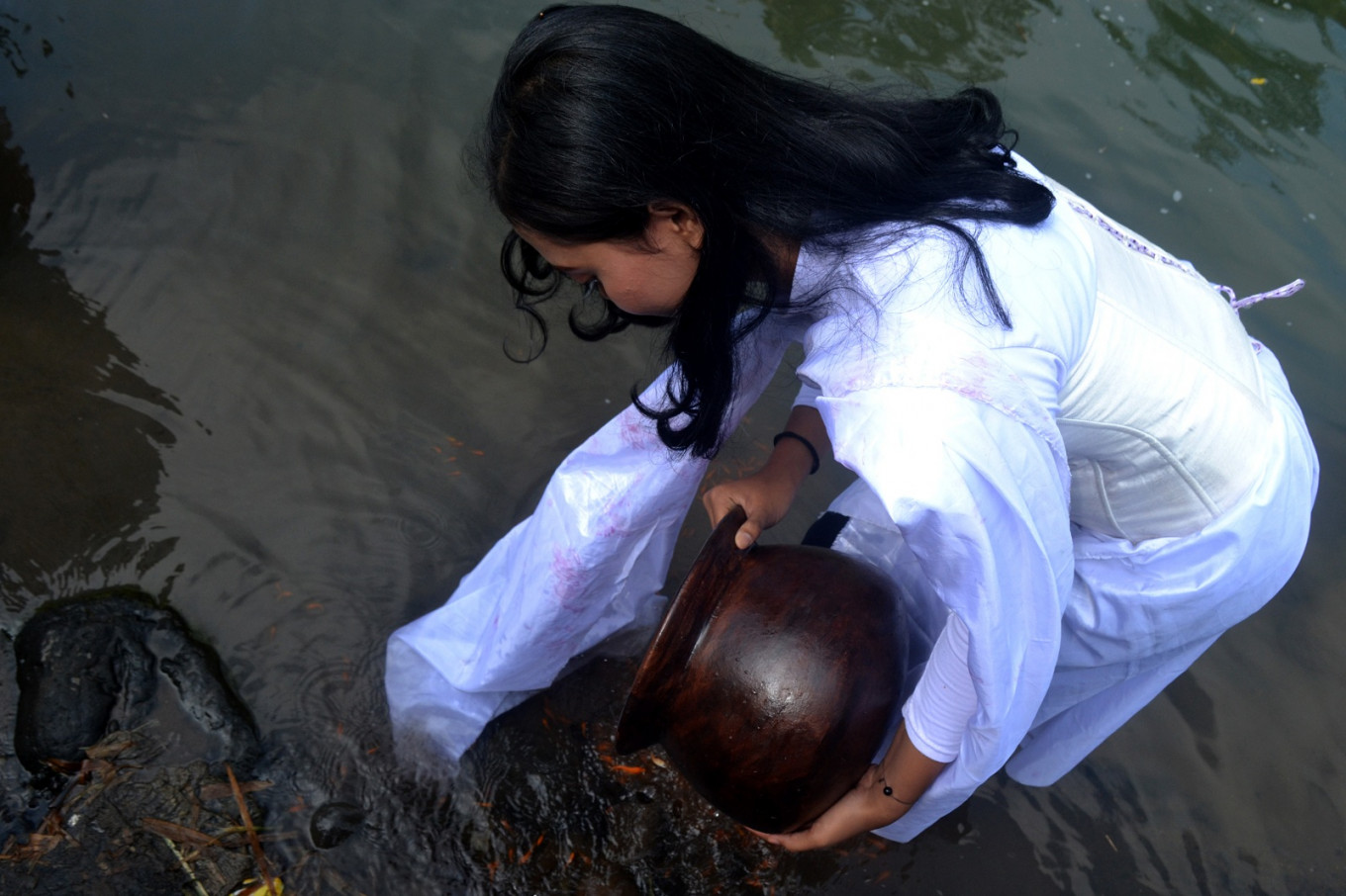 About 10,000 fish seeds are released during the festival.