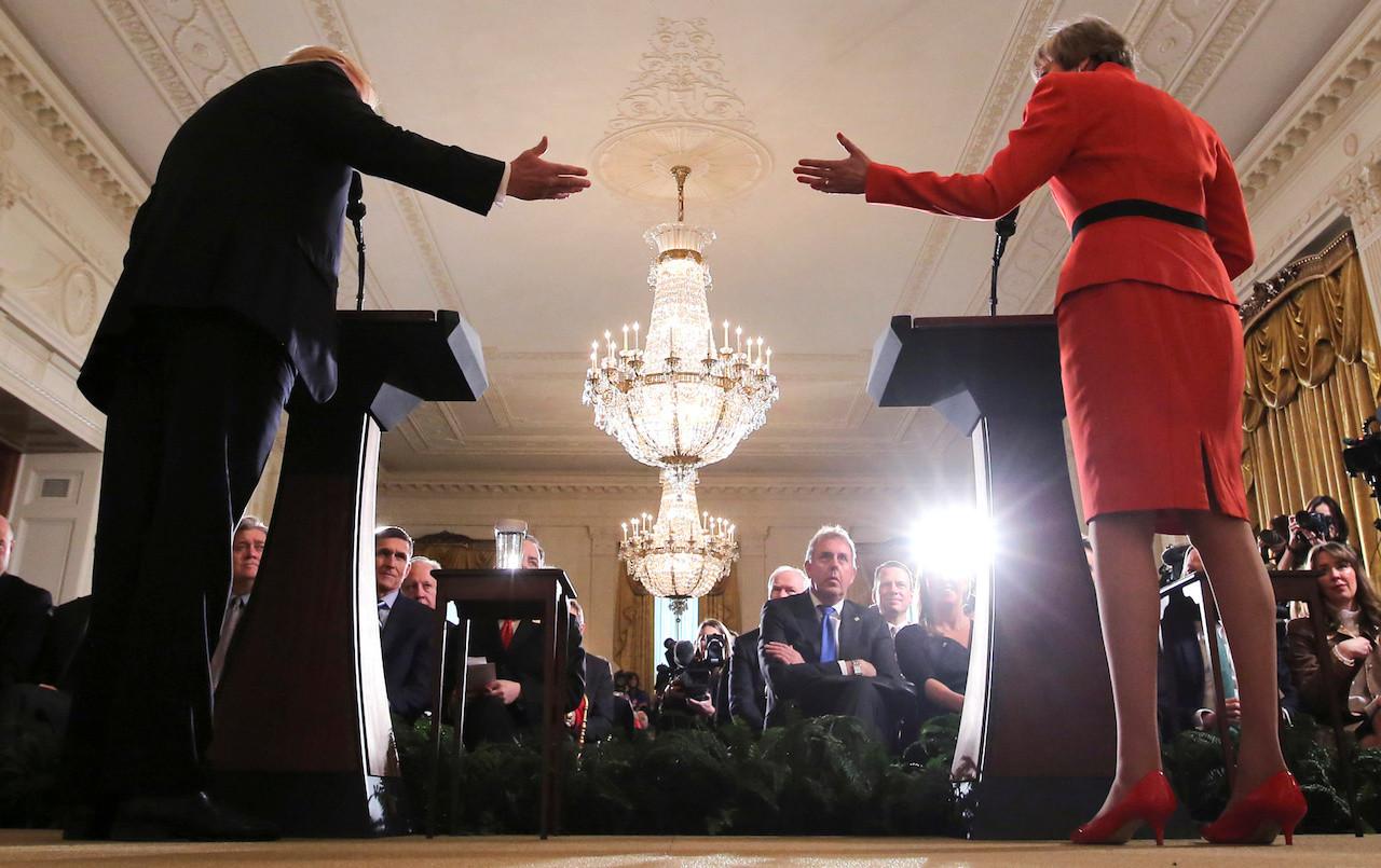 Trump attacks British ambassador, takes swipe at UK PM May