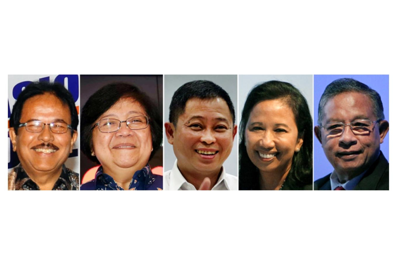 Big names may fall off Jokowi's Cabinet