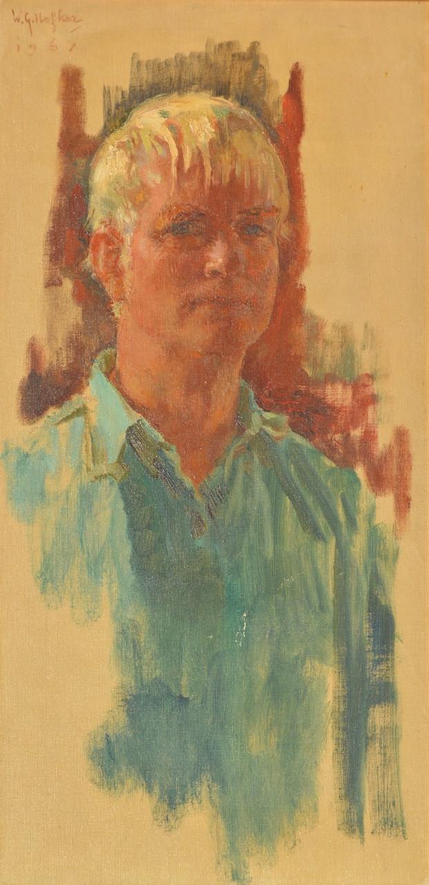 Lot 709: 'A Self-Portrait of the Artist' by W. G. Hofker