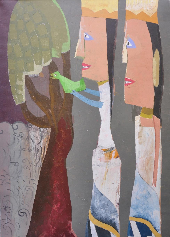 Lot 783: 'Love Bird' (2007) by Ketut Teja Astawa