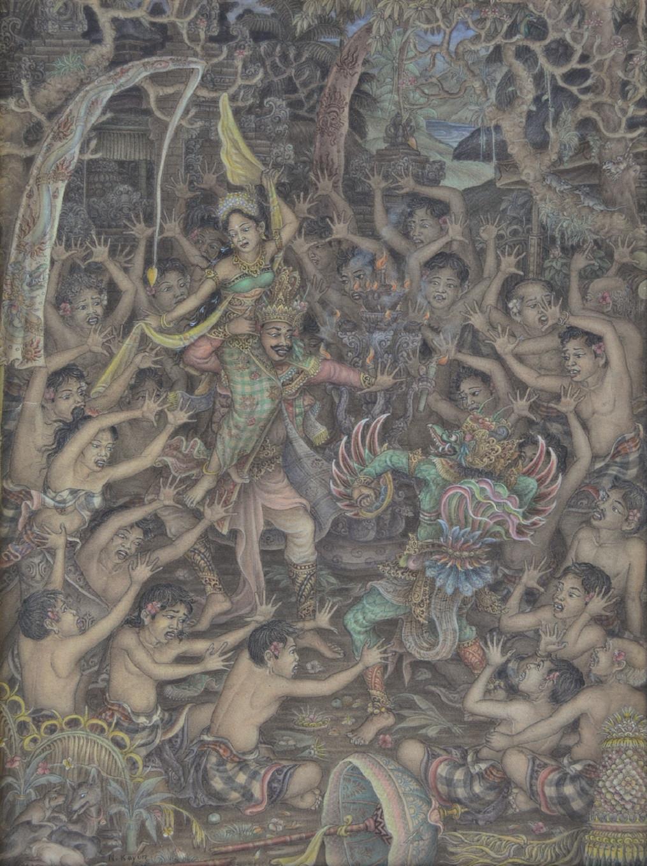Lot 764: 'Rahwana Menculik Dewi Sita' by Nyoman Kayun