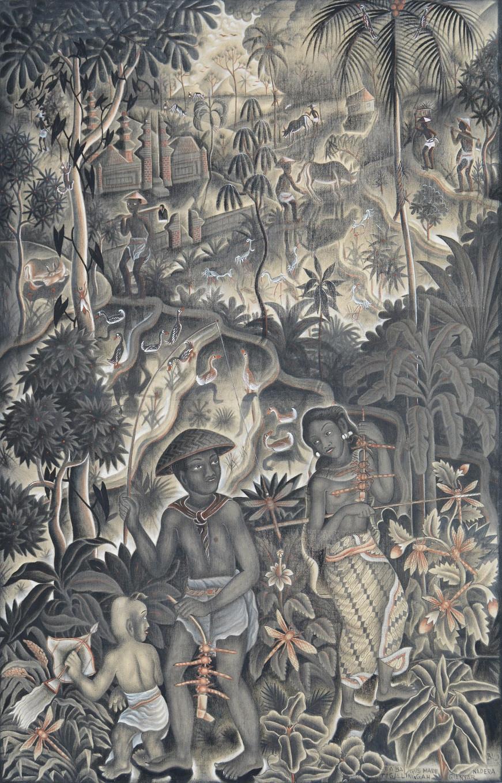 Lot 769: 'Berburu Campung' by Ida Bagus Made Nadera