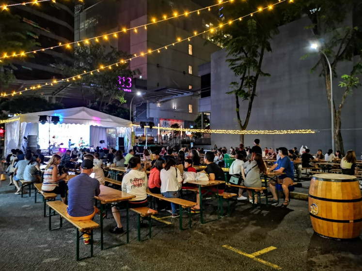 Happy meals: The Grange Road carpark hosts a plethora of culinary treats and vendors during the 2019 Great Singapore Sale (GSS).