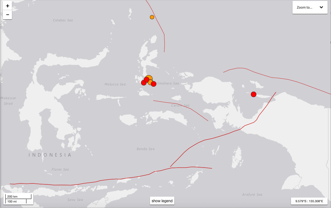 Six fatalities identified from South Halmahera 7.3 quake