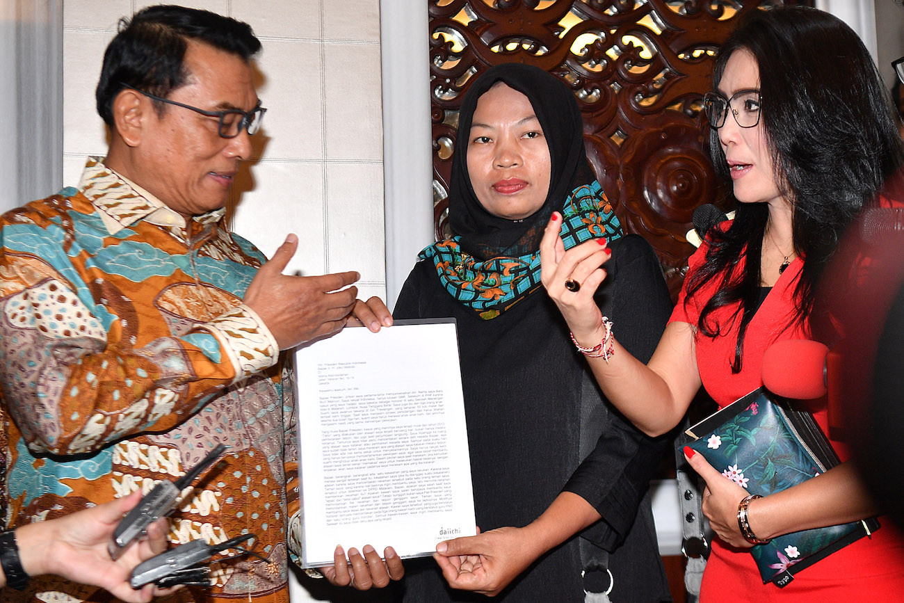 Jokowi sends Nuril amnesty letter to House