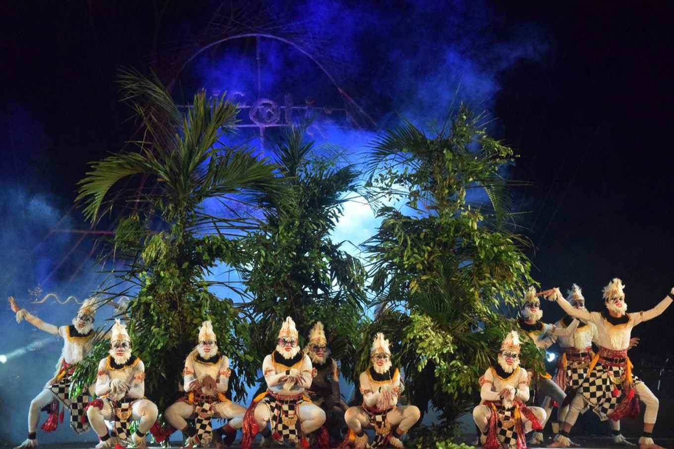 "The ""kethek ogleng"" performance is staged at Java International Folklore (JiFolk) in Temanggung, Central Java."