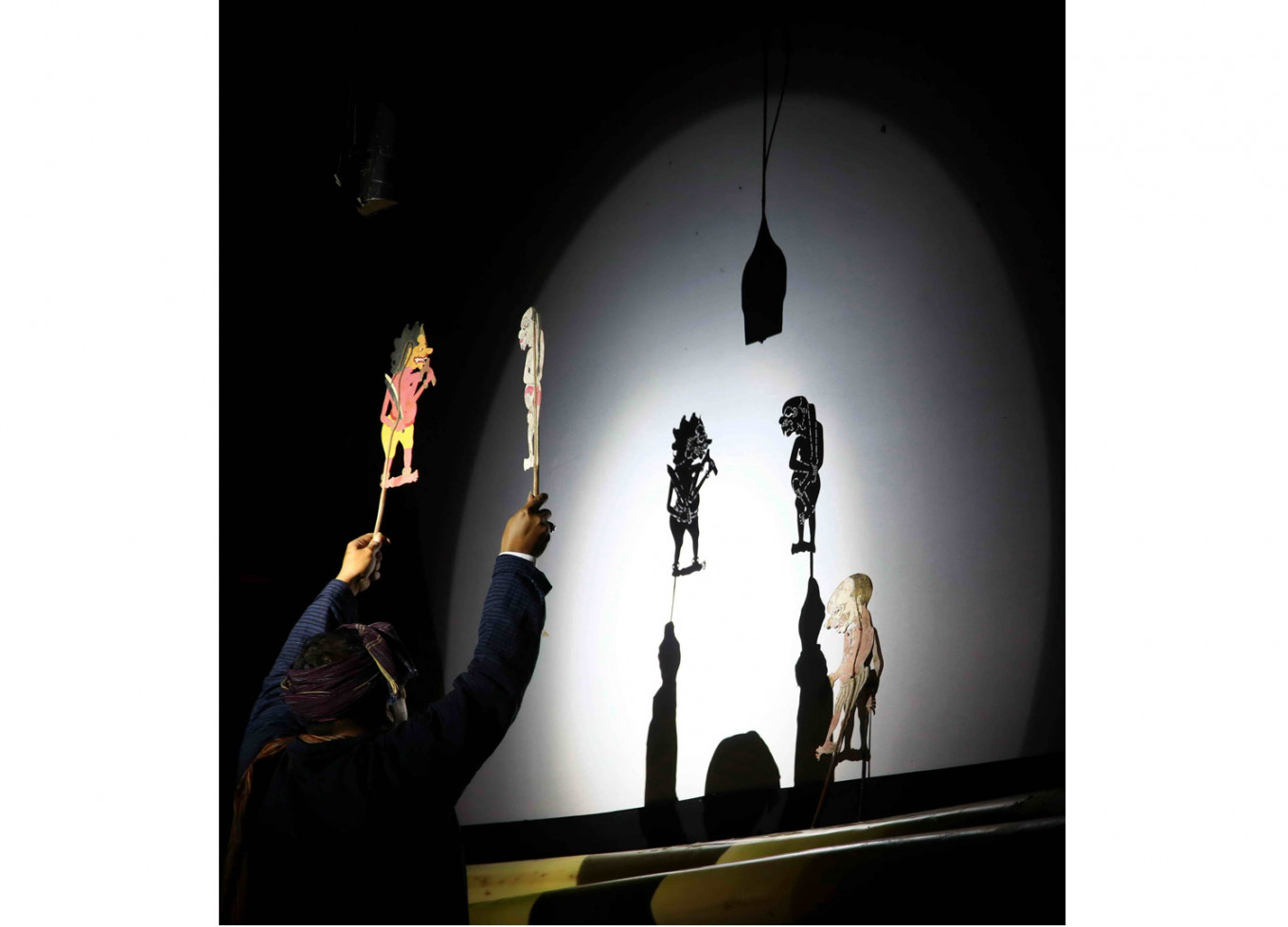 Tunes and shadows: Keroncong Wayang Gendut, better known as Cong Way Ndut, broke with tradition by adding the tunes of keroncong folk music into its shadow puppet performance. JP/PJ Leo