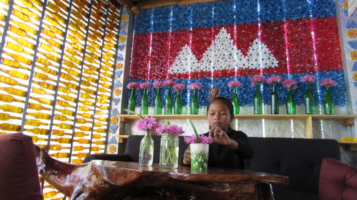 Plastic cups runneth over at Cambodia's Rubbish Cafe