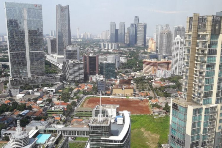 An aerial view of Mega Kuningan business district in South Jakarta.