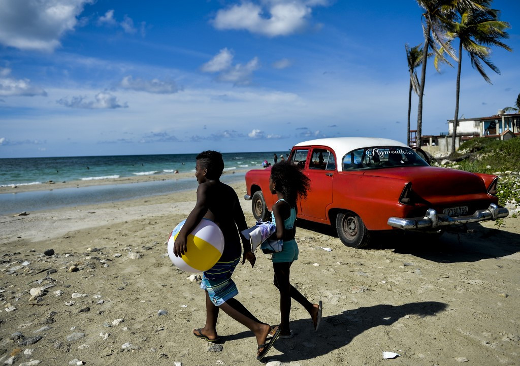 For Cubans, a day at the beach is no easy task