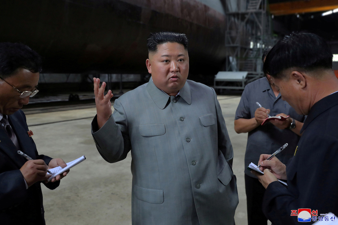 North Korea's Kim Jong Un says missile launch a warning to South Korean 'warmongers'