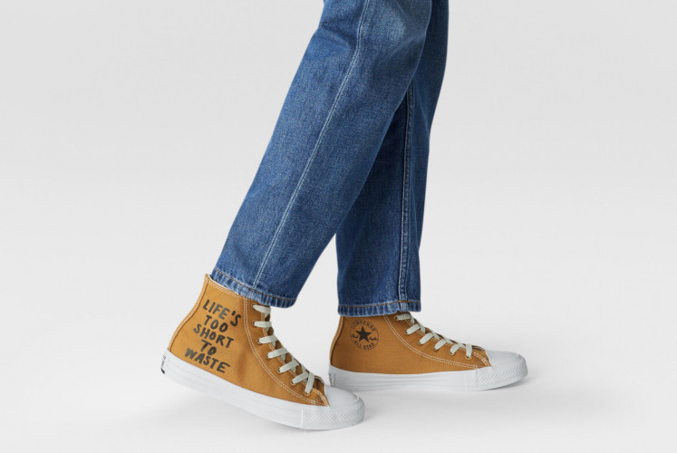 Converse Renew Canvas in wheat color. The shoes are made from recycled polyester originating from used plastic bottles.
