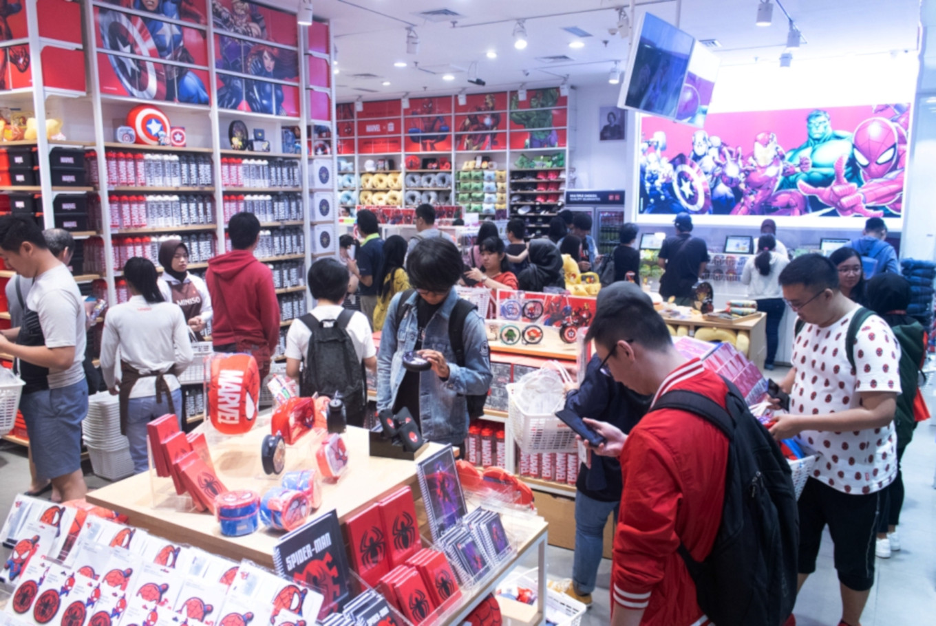Miniso launches Marvel collections in Indonesia