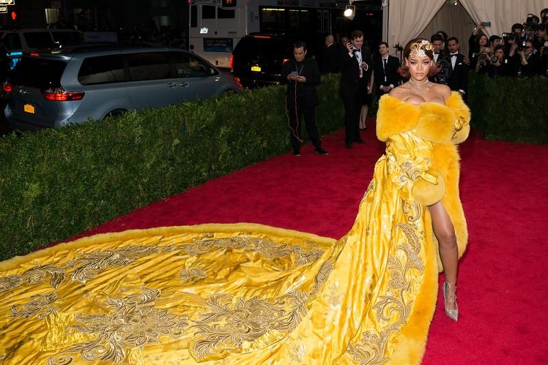 Rihanna's stunning 'Yellow Queen' dress on exhibit in Singapore