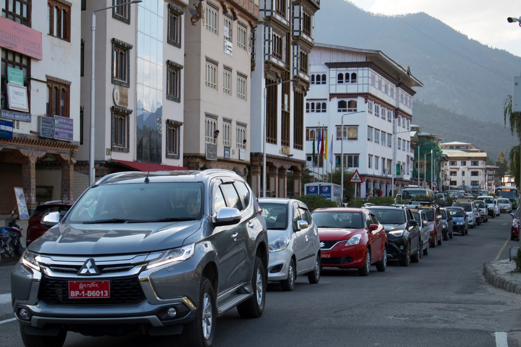 Car boom brings gridlock misery to 'green and happy' Bhutan