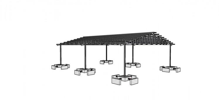 An illustration of the spring damper foundation.