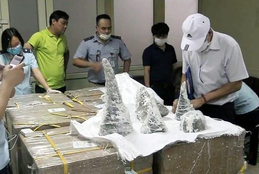 Vietnam seizes 125 kilos of rhino horn hidden in plaster