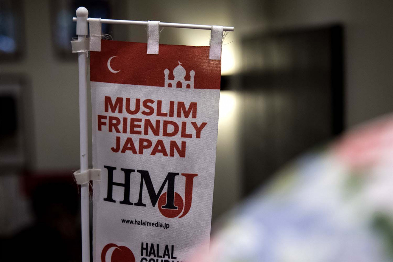"Japanese restaurants put the ""Muslim friendly"" sign in restaurants so that Muslim tourists can dine in with ease. JP/Rosa Panggabean"