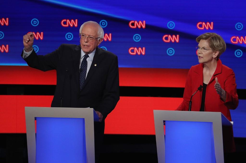 Warren, Sanders attacked over liberal policies in second debate