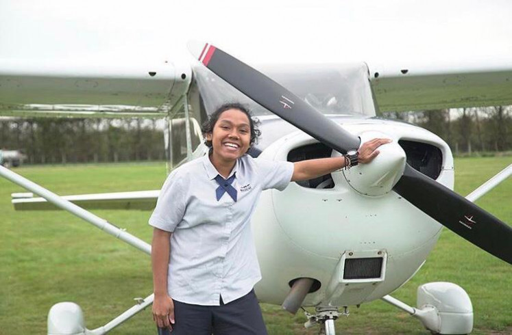 Martha Itaar (pictured) is part of the first batch of a Garuda Indonesia pilot recruitment program from Papua.