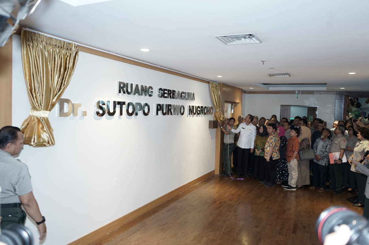 BNPB names multipurpose room after late Sutopo Purwo Nugroho