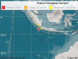 Strong earthquake in Banten causes panic in Jakarta
