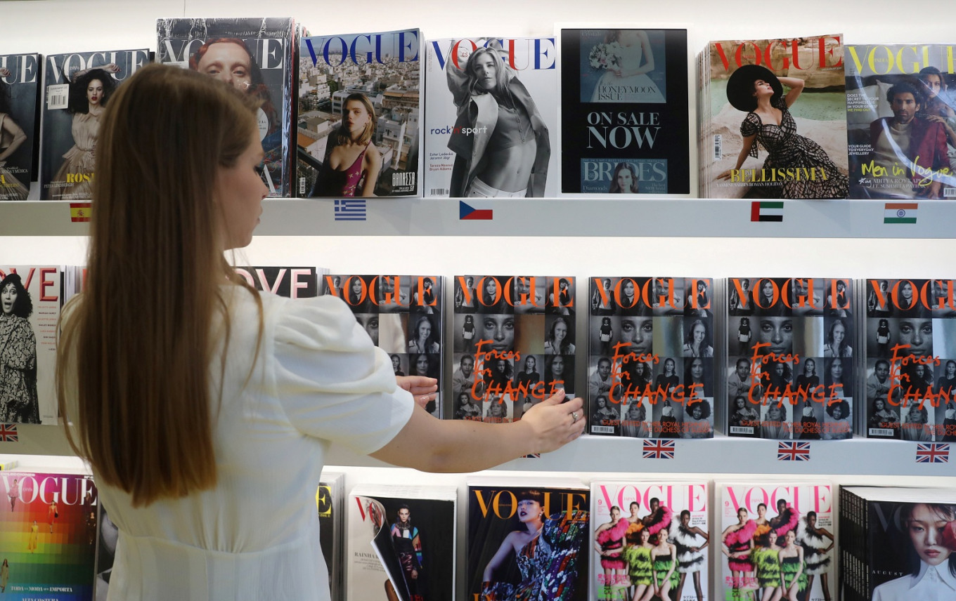 Readers line up for copy of British Vogue edited by UK's Duchess Meghan