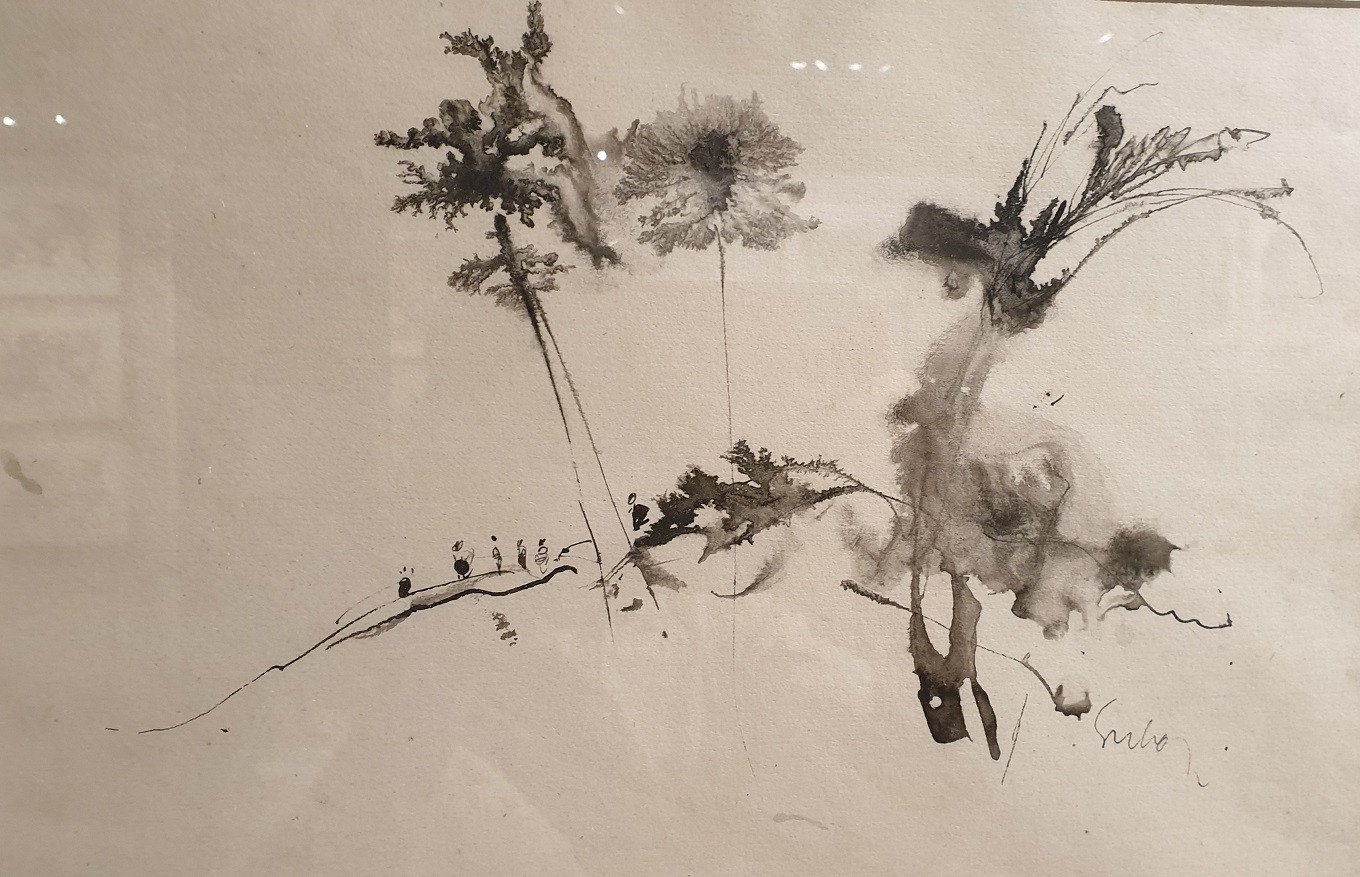 Ink composition on paper by Sukari, circa 2008 - 2009