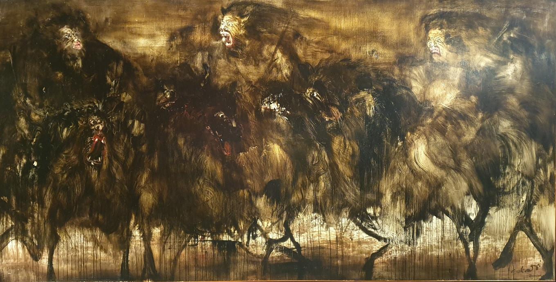 Tiga Pemburu (2001) by Nyoman Sukari