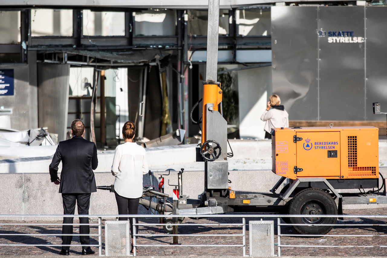 Blast hits tax office in Copenhagen in attack, one person hurt: Police