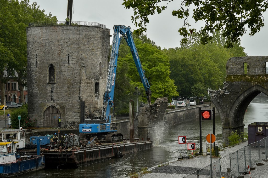 Medieval bridge faces troubled waters in Belgium