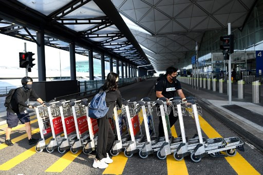 Hong Kong airport suspends all check-ins