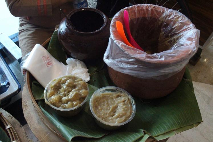 Jenang gempol from Lempeyengan Market, Yogyakarta.