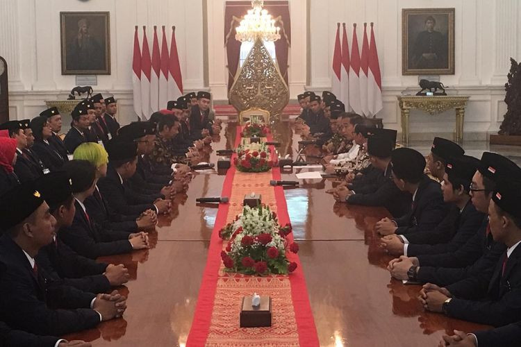 Jokowi wishes WorldSkills participants well at palace send-off